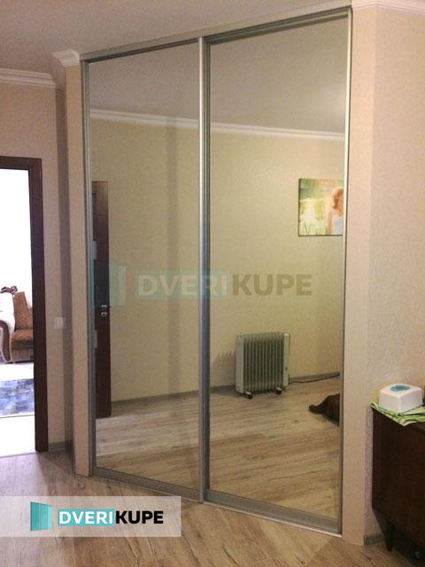 Двери купе зеркальные на заказ Киев